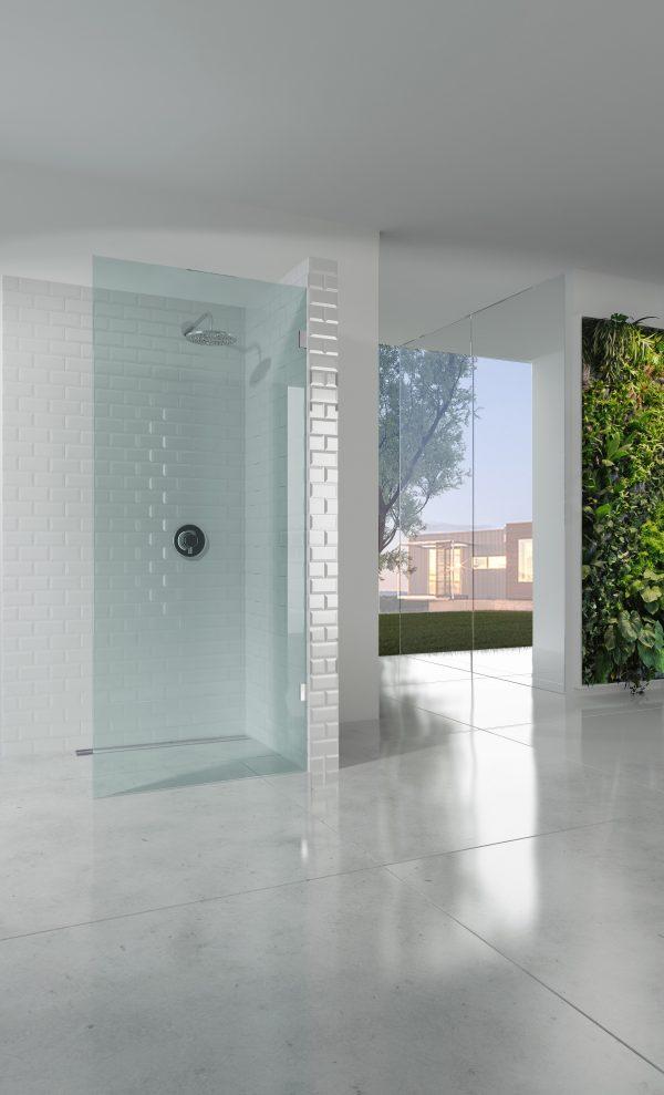 Frameless Walk-In Panel 850W x 2100H - Pipers International - shower ...