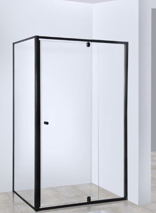 Elfreda Suite Semi Frameless Shower Screen Matte Black